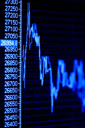 Monitoring of stock market graphs on the lcd screen. Stock Photo - 4774071