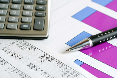 Financial balance and stock market reports. Stock Photo - 4774068