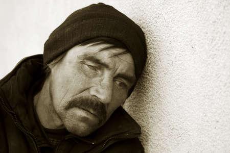 Despair of homeless. photo