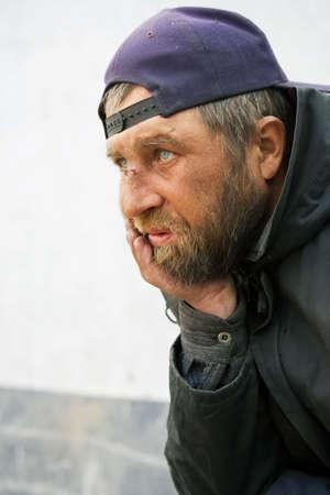 street drug: Homeless man.