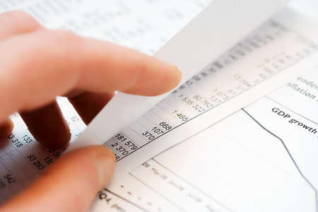 Analysis of the financial information. photo