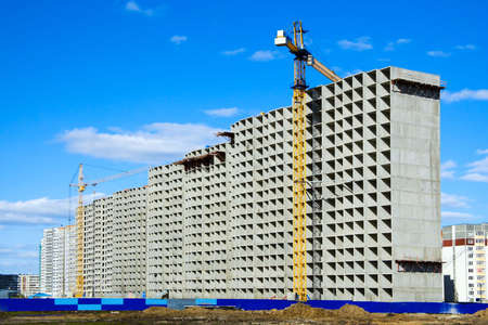 Construction of apartment houses. Stock Photo - 4906382