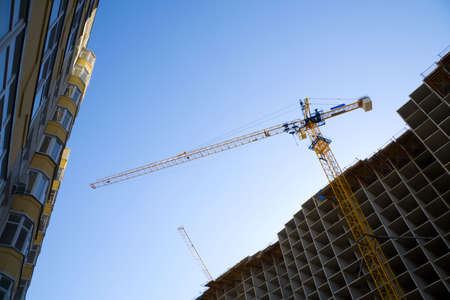 Crane on the costruction. Stock Photo - 4906384