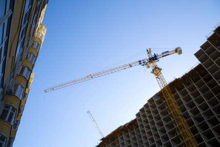 Crane on the costruction. Stock Photo - 4906384