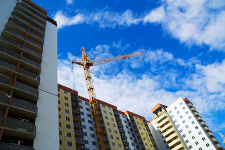 Construction of apartment houses. Stock Photo - 4906400