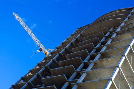 Construction of apartment houses. Stock Photo - 4906414