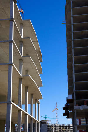 Construction of apartment houses. Stock Photo - 4917711