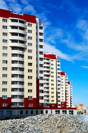 Construction of apartment houses. Stock Photo - 4997787