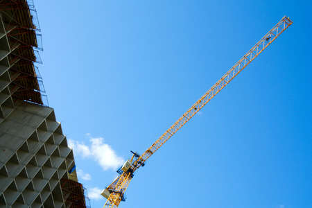 Crane on the costruction. Stock Photo - 4997785