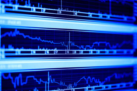 Stock market dynamics on the lcd monitor. Stock Photo - 5123019