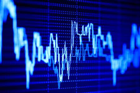 Stock market dynamics on the lcd monitor. photo