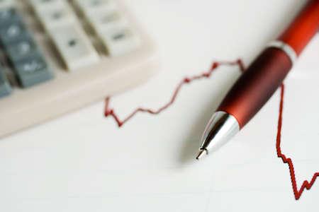 Analysis of stock exchange reports. photo