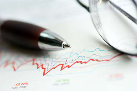 Monitoring of stock market reports. photo