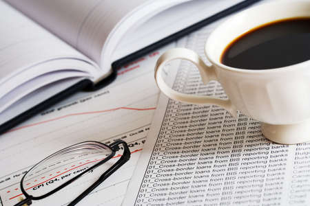 Coffee and accounting. photo