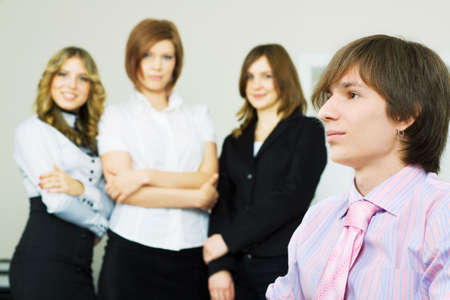 Young businessman and his business team. Stock Photo - 5906995