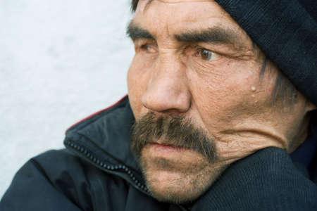 Homeless man. photo