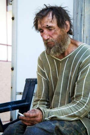 Personas sin hogar. Foto de archivo