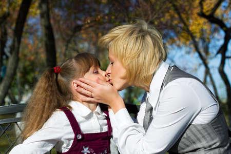 Loving kiss. photo