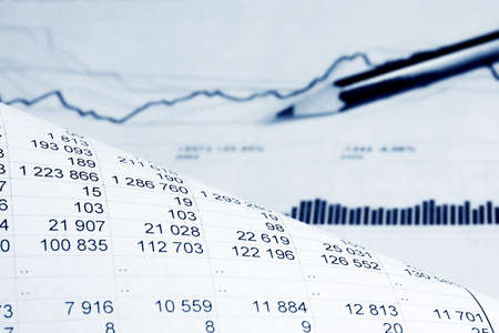 Informes financieros.  Foto de archivo