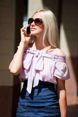 Young woman on the phone. photo