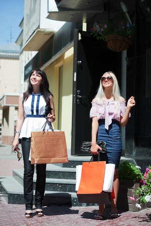 Two young women shopping. Stock Photo - 7364922