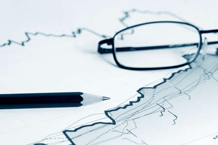 Analysis of business reports. photo