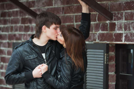 Kiss on the street photo