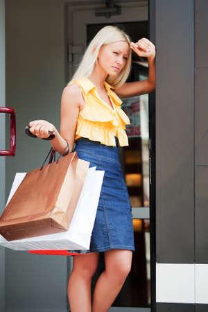 Tired shopper photo