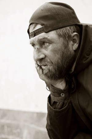 vagabundos: Hombre sin hogar Foto de archivo