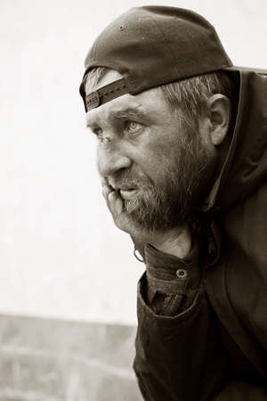 homeless people: Homeless man