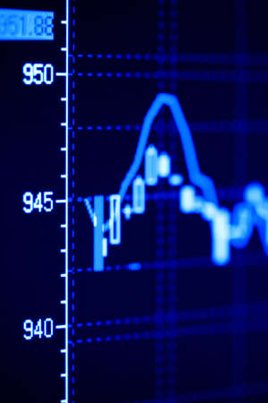 Stock index dynamics on the monitor photo