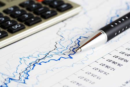 stock chart: Stock market graphs monitoring
