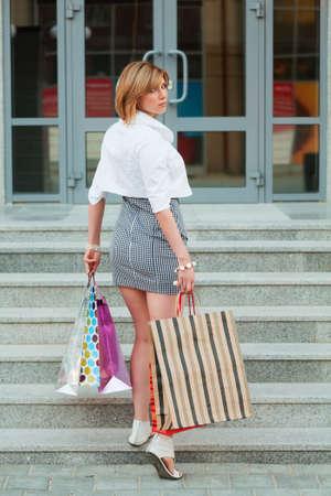 Young woman shopping  photo