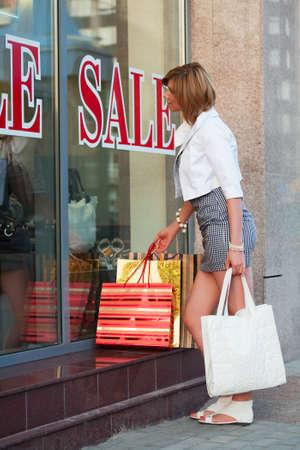 window shopper: Window shopping Stock Photo