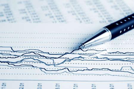 Stock market graphs monitoring  photo