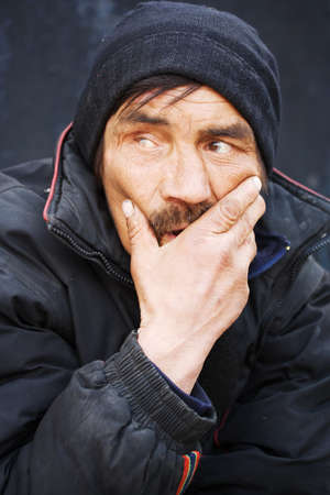Homeless man photo