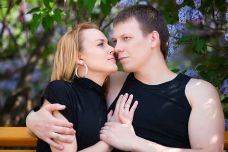 Young couple in love photo