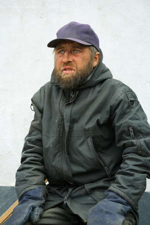 Homeless man Stock Photo - 10443794