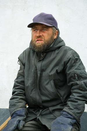 Homeless man Stock Photo - 10443794