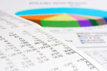 analyse: Graphiques boursiers et des graphiques Banque d'images
