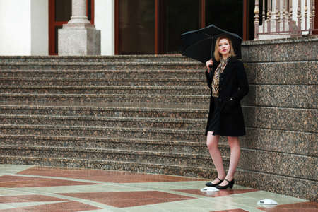 recollection: Woman with umbrella