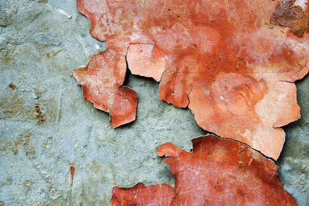 cracked cement: Peeled plaster wall Stock Photo