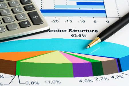 Börsen-Sektor-Analyse Standard-Bild