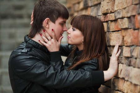 Glückliche junge Paar in der Liebe