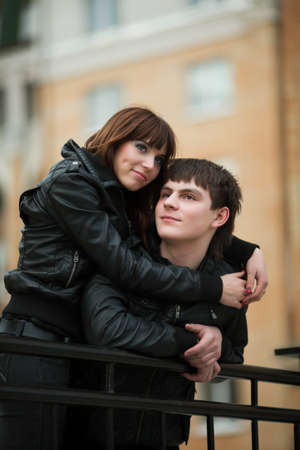 Happy young couple in love photo