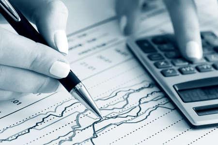 Bourse graphiques d'analyse Banque d'images
