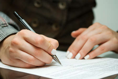 female form: Signing contract
