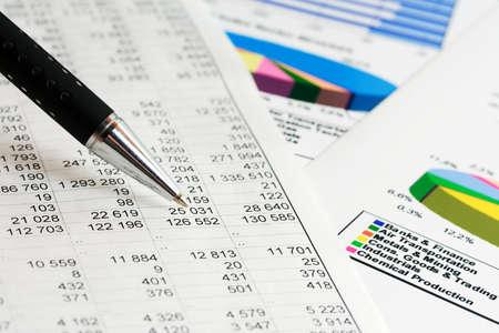 Finanzielle Grafiken und Diagrammen