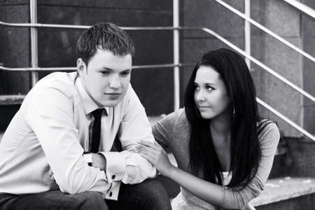 Young couple in depression Stock Photo - 13734285