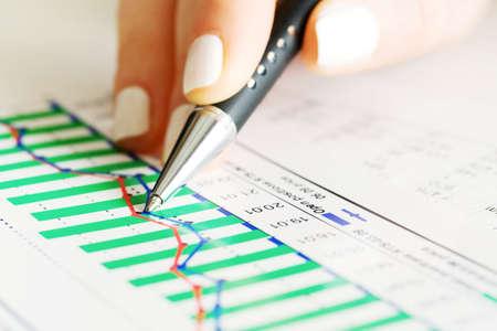 Stock market graphs analysis photo